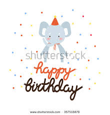 birthday invitation template girls cute cartoon stock vector