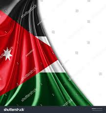 Flag Jordan Jordan Flag White Background Stock Illustration 237993358