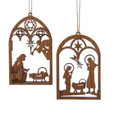 nativity and religious ornaments the mouse