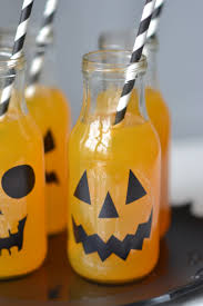 festive halloween drinks put together