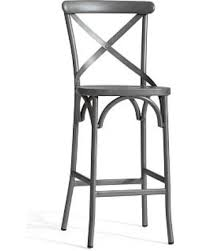 X Back Bistro Chair On Sale Now 20 X Back Bistro Barstool Bar Height Zinc