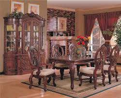 dining room set with hutch nottingham brown cherry wood buffet and hutch steal a sofa