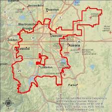map us denver service area denver water