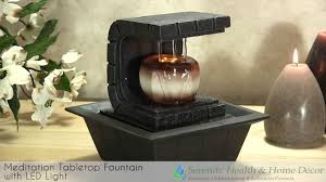 Meditation Home Decor by Interior Design Meditation Tabletop Fountain With Led Light