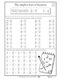 35 best math fraction worksheets images on pinterest teaching