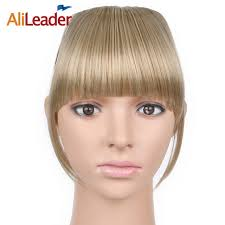 clip in bangs alileader neat front fringe clip on bangs hairpiece black brown