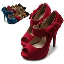 ribbon heels ollio womens pumps platform open toe high heels ribbon accent