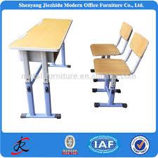 furniture cheap wooden adjustable children desk and chair