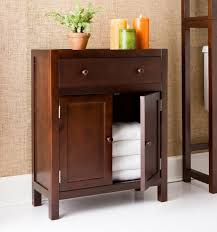 Modern Bathroom Storage Black Stained Wooden Cabinet Door Mirror Modern Oak Fruitwood