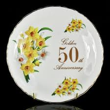 50th anniversary plate engraved shared memories gifts australia george s weekly