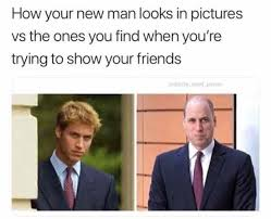 Friends Show Meme - how your new man looks in pictures vs the ones you find when you