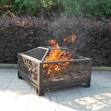 Wood Burning Firepit by Antique Vine Outdoor Wood Burning Fire Pit
