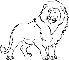 free coloring pages lion