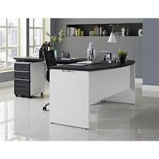 Office Desk Credenza Altra Furniture Altra Pursuit White And Gray Desk With Storage