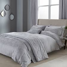 Silver Duvet Cover Blume Single Duvet Cover In Silver At Bedeck 1951