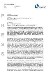 makino makino europe gmbh pdf catalogue technical
