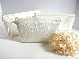 bridal makeup bags set of 4 satin and lace clutch bridesmaid makeup bag satin
