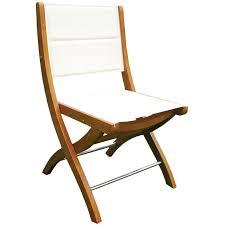 chaise de pliante chaise pliante bois tissu blanche décoration jardin externe maison