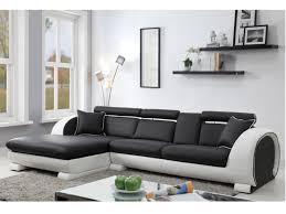 assise de canapé canapé d angle assise noir structure blanche komodor