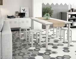 hexagonal floor tiles by equipe ceramica hexatile collection wall