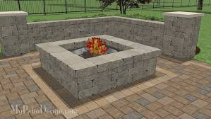 Firepit Design Outdoor Fireplace Design W Wood Box And Bench Mypatiodesign