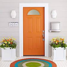 orange painted exterior front door ways paint your exterior