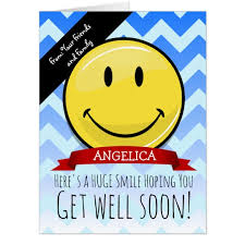 get well soon cards a smile to get well soon card zazzle