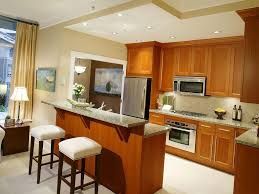 interior kitchen make overs ideas with wooden countertop built in