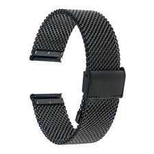 black strap bracelet images 18mm 20mm 22mm 24mm milanese watch band for fossil stainless steel jpg