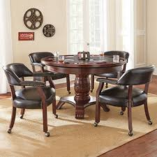 Dining Table And Chairs On Wheels Talley Dining Table With Poker Game Top And 4 Chairs Assorted