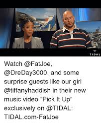 Fat Joe Meme - tidal watch and some surprise guests like our girl in their new
