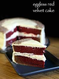 red velvet cake recipe easy u0026 moist eggless velvet cake recipe