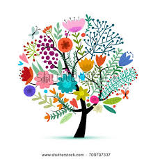 floral tree beautiful summer stock vector 55875361