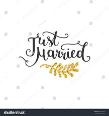 Just Married Cards Just Married Golden Save Date Card Stock Illustration 463869674