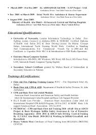 Sample Truck Driver Resume by Mohammad Zahid Ambulance Driver Cv