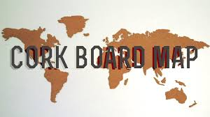 Map Of Where I Am Right Now Diy Corkboard World Map Youtube
