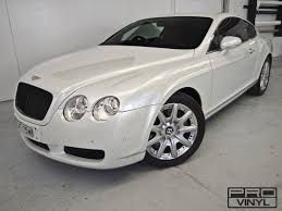 white gold bentley vehicle vinyl wrapping and car paint protection 9