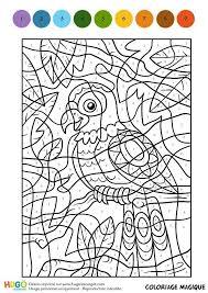 Coloriage et illustration dun Coloriage Magique CM1 une perruche