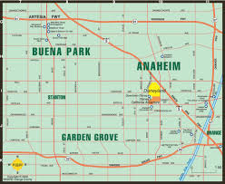 San Diego City Map by Map Of Anaheim Buena Park Garden Grove