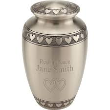 cremation urns for adults band of hearts cremation urn for ashes brass urns metal urns