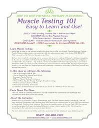oct 29th class on muscle testing u2013 one2one physical therapy