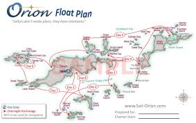 Bvi Map Float Plan Generator Sailing Vessel Orion Available For Charter