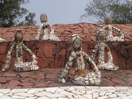Nek Chand Rock Garden Nek Chand Rock Garden Chandigarh India Stock Photo Image Of