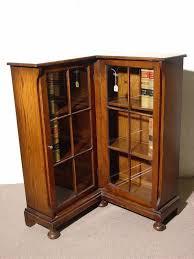 Low Corner Bookcase 762 Small Oak Low Corner Bookcase Cabinet Hav Lot 762