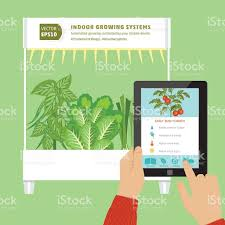 iot hydroponic indoor growing systems concept stock vector art
