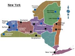 Maps Of New York by Map Of New York Overview Map Regions Worldofmaps Net Online