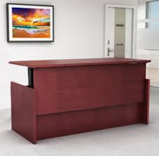 Stand Up Reception Desk Newheights Adjustable Height Desks By Rightangle Products