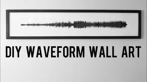 diy wall art of a waveform of a song youtube