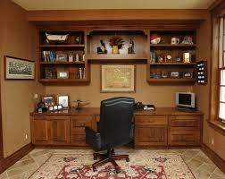 beautiful home office design scheme showcasing white accentuate of
