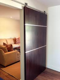 Inside Barn Door by Lovable Brown Polished Single Front Sliding Barn Door Feat Double